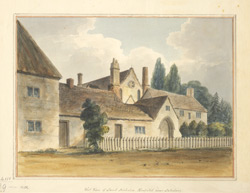 West view of St Nicholas's hospital, near Salisbury